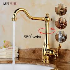 senarai harga meifuju luxury swivel bathroom faucet gold vintage basin faucet chrome basin mixer tap 360 degree bronze kitchen faucet brass terbaru di
