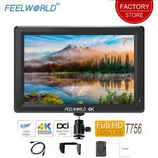 <b>Feelworld T756 7 inch</b> On Camera Field Monitor DSLR 4K HDMI ...