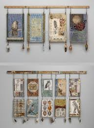mixed media wall hangings by textile artist sharon mccartney these images no longer on her website  on hanging cloth wall art with mixed media wall hangings by textile artist sharon mccartney these