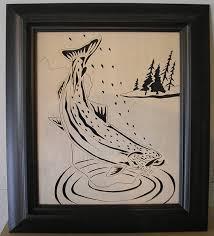 scroll saw pattern trout 18