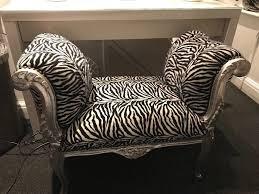 shabby chic zebra print chair 70 o n o