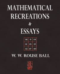 mathematical recreations and essays link large book cover mathematical recreations and essays