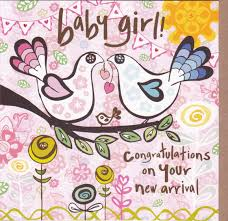 Congratulations On Your New Arrival Baby Girl Card