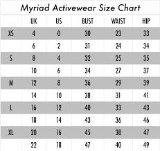 Size Guide Myriad