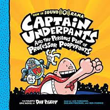 captain underpants and the perilous plot of professor ypants audiobook cover art