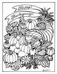 Small Picture Coloring Page Thanksgiving Pages For Adults Happy Food Free Within