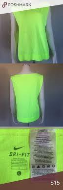 Nike Dri-Fit Neon Highlighter Yellow Tank Size L