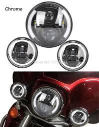 Harley Davidson Fog Lights Installation Instructions 1 Set Black 7 Inch Half Angel Eyes Led Headlight And 4 5