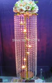 neoteric design inspiration chandelier centerpiece 2pcs lot tall 83cm 32 68 crystal table candelabra gold wedding