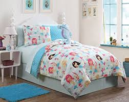 queen comforter on twin bed.  Queen 7 Pc Girls Mermaid Twin Bedding Comforter Set By Karalai Bedding  Collection And Queen On Bed R
