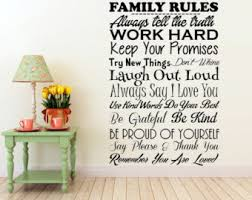 Wall Decal Quotes Extraordinary Family Rules Vinyl Wall Decal Keep Your Promises Always Say I Love