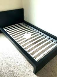 Childrens Ikea Extendable Bed Frame Cream Metal With Wooden Slats ...