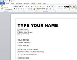 Resume Example Resume Templates For Microsoft Word 2007 Resume