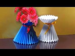 Flower Vase With Paper How To Make Paper Flower 2017 Flower Making Of Crepe Paper Diy