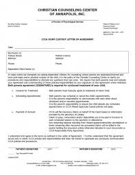 custody agreement examples sole custody agreement form joint images letter sample format and