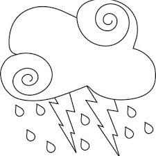 Small Picture Black Cloud and Lighting Bolt Coloring Page Black Cloud and
