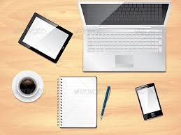 office desk view. Beautiful View Office Desk Top View Photo Realistic Vector  Backgrounds Business To Desk View