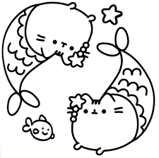 Printable Pusheen Cat Coloring Pages 145 For Preschool Free