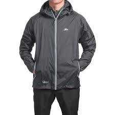 trespass qikpac jacket waterproof for men and women in flint