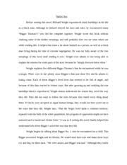 pas summary pg how bigger was born richard wright starts by  4 pages english native son essay