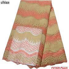 2019 2019 <b>Latest</b> Peach <b>French Laces Fabrics</b> High Quality Tulle ...