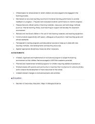 Resume Sample For Teachers