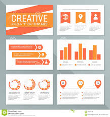 presentation charts and graphs vector business presentation template set graph and chart elements