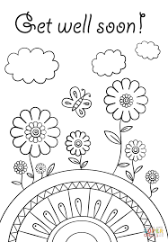 Coloring Pages Coloring Pages Get Well Soon Page Free Printable