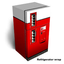 Vending Machine Vinyl Wrap Inspiration Red Clean Vending Machine Refrigerator Wrap Rm Wraps
