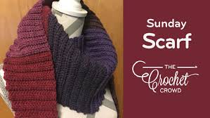 Ribbed Scarf Pattern Simple Crochet Sunday Ribbed Scarf The Crochet Crowd