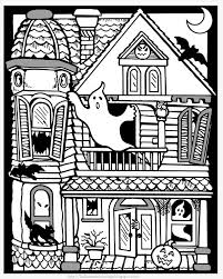 Printable Halloween Haunted House Coloring Pages