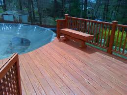 Wooden Pool Decks Above Ground Pool Privacy Deck The Cedar Aboveground Isabelle With