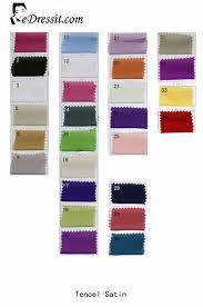 Edressit Tencel Satin Color Chart 64100101a