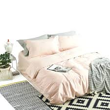 name satin weave cotton pure color light pink duvet cover set light pink duvet cover