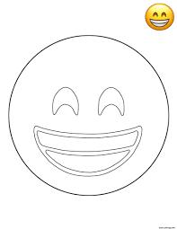 Coloriage Emoji Grinning Smile Smiley Jecolorie Com