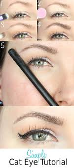 description simple cat eye tutorial for hooded eyes