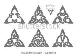vector celtic trinity knot part 1 ethnic ornament geometric design vector ilration set