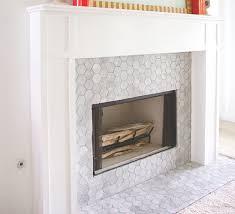 mosaic tile fireplace. Delighful Tile Carrara Bianco 3 To Mosaic Tile Fireplace