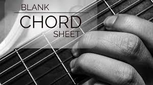 Blank Guitar Chord Sheet Guitar Lesson World