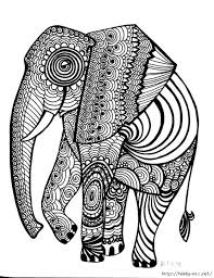 Small Picture 19 best Adult coloring Elephants images on Pinterest Coloring
