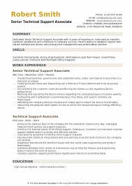 Technical Support Associate Resume Samples QwikResume Inspiration Technical Support Resume