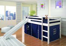 kids low loft bed. Delighful Loft Donco Kids White Twin Low Loft Bed W Blue Tent Slide On