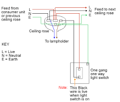 one way lighting loop in one way lighting circuit using loop in ceiling roses