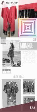 Monroe Size Chart Lularoe Monroe Kimono Sheer Fringe Cover Up Nwt Lularoe