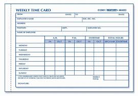 Timecard Template Word Employee Time Card Template Shooters Journal