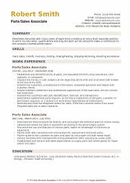 Sales Associate Qualifications Parts Sales Associate Resume Samples Qwikresume