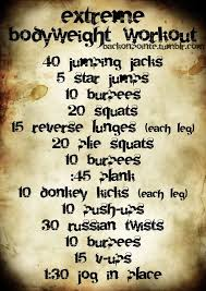 big list of crossfit bodyweight workouts extreme bodyweight workout