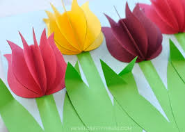 Paper Art Flower Gorgeous 3d Paper Tulip Flower Craft I Heart Crafty Things