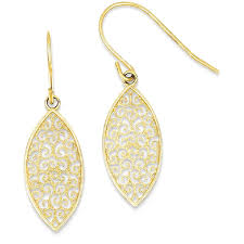icecarats 14k yellow gold filigree teardrop drop dangle chandelier earrings earrings best canada