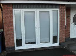 garage door conversion to french doors no panes pull down shades for privacy